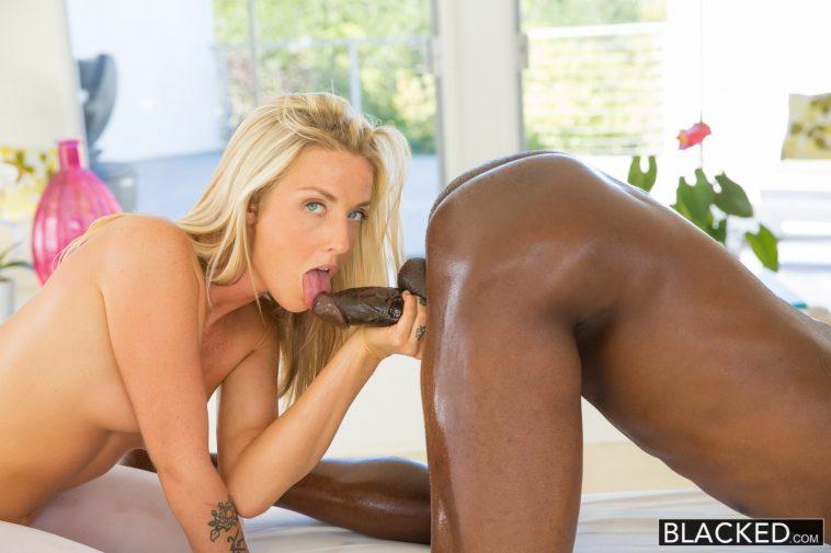 Blacked Karla Kush Beautiful blonde loves massaging BBC with Jason Brown 6