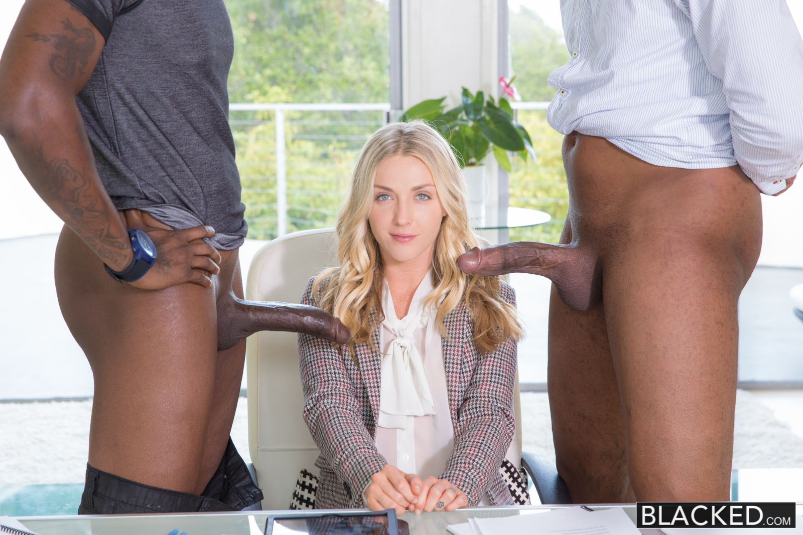 Blonde Fucked Two Black Guys