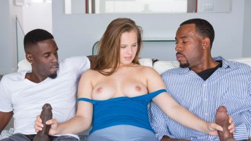 Blacked Minnesota Teen Jillian Janson Tries First Interracial Threesome with Jason Brown & Jovan Jordan 5