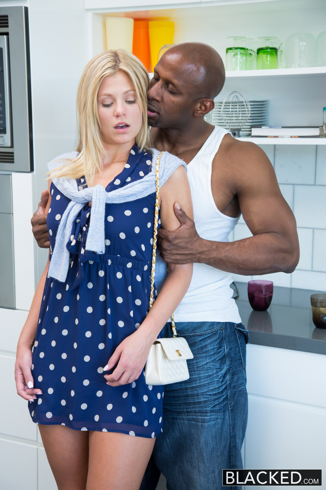 Blacked Preppy Blonde Girl Scarlet Red Loves Big Black -2594