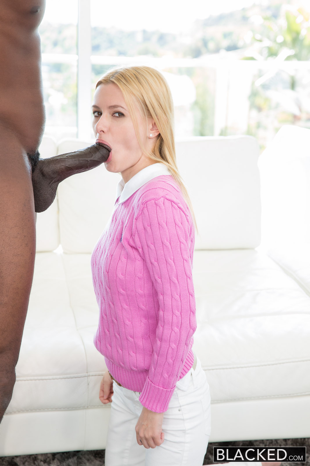 Blonde wife interracial her