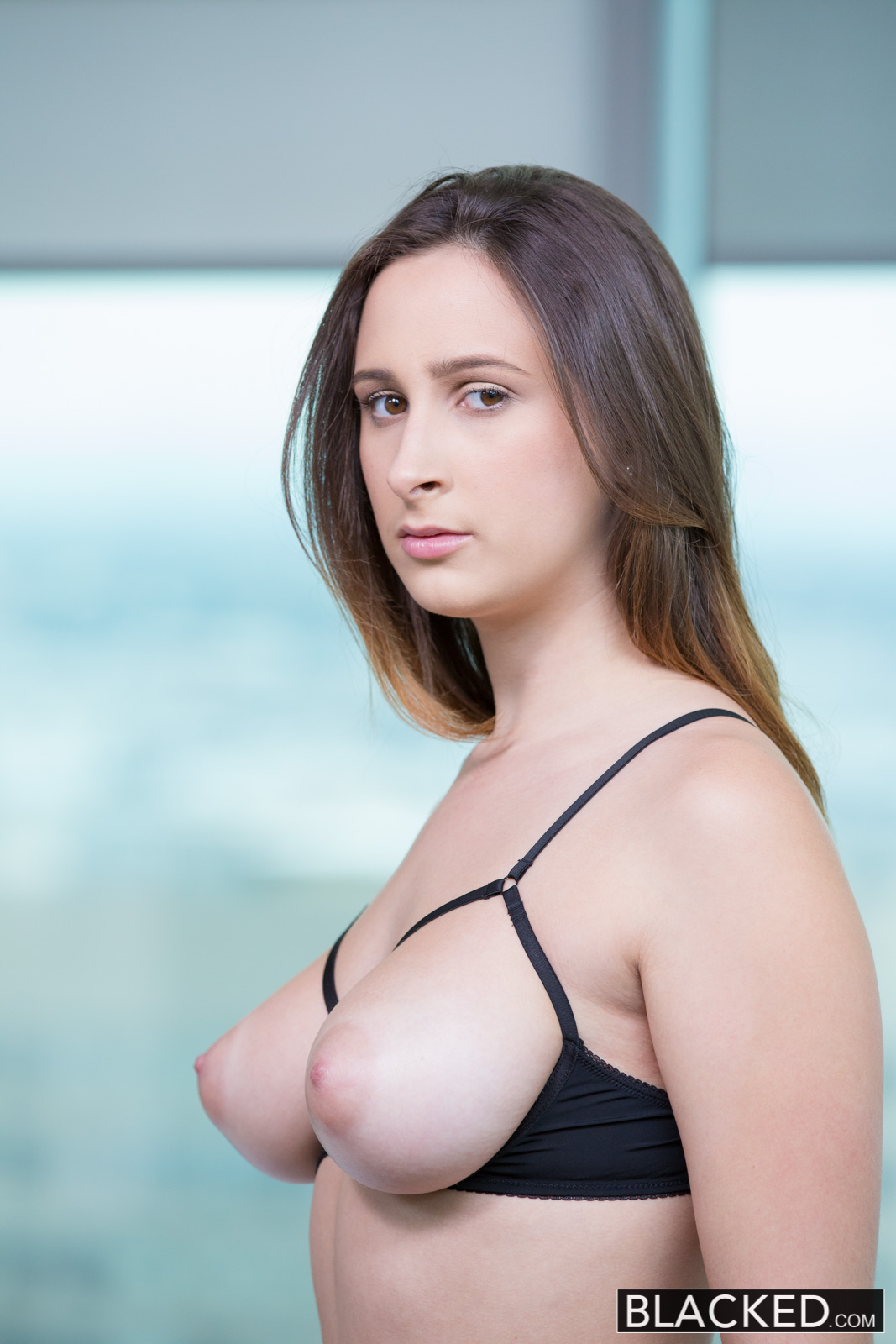 a busty brunette doing a hung black man from ashley
