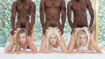 Blacked Elsa Jean, Rachel James & Sydney Cole in Preppy Girl Threesome Get Three BBCs with Isiah Maxwell, Jason Brown & Flash Brown 1