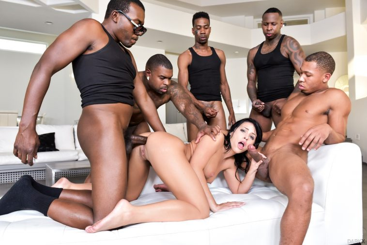 DarkX Adriana Chechik in Adriana's 1st IR Gangbang with Rico Strong, Ricky Johnson & Jon Jon 11