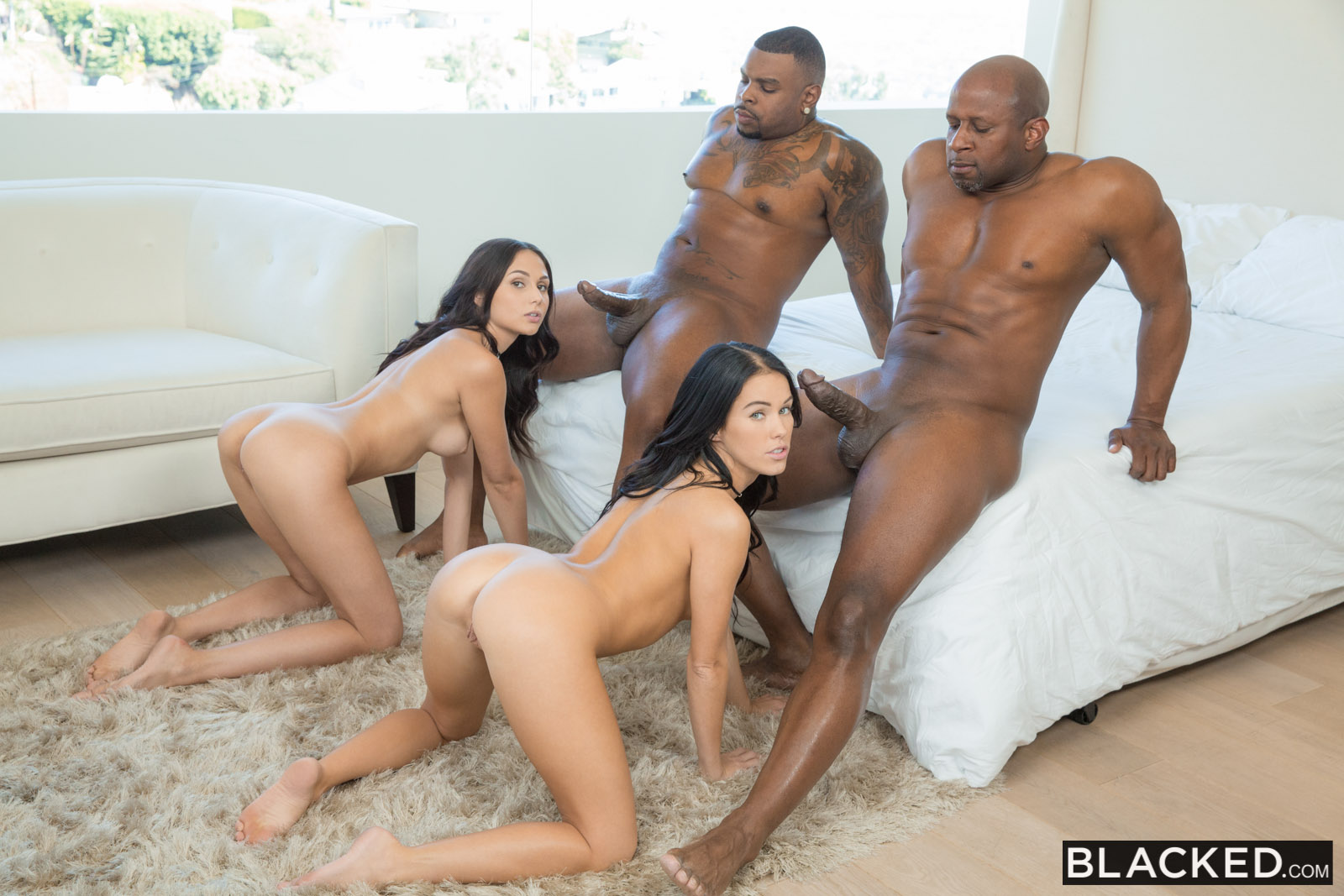 Blacked orgy